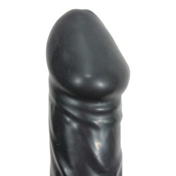 Black Giant Latex Opblaasbare Dildo