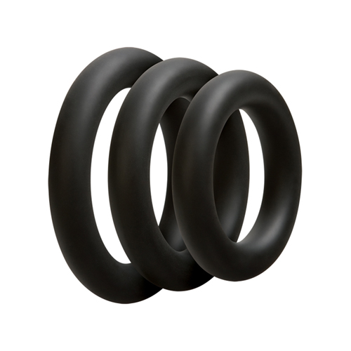 Driedelige cockring set - Dik - Zwart