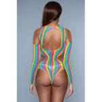Strange Love Cold-Shoulder Body - Rainbow