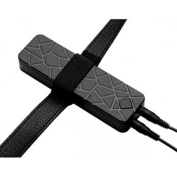 Power Pegger Dubbele Strap-On Vibrator - Huidkleur