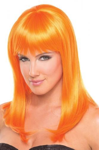 Hollywood Pruik - Oranje