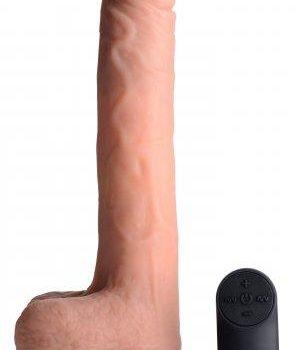 Vibrerende & Stotende Realistische XL Dildo met Zuignap en Ballen -16.5 cm