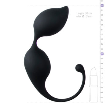 Ronde kegel balletjes - zwart