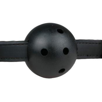 Ball gag met PVC bal - zwart