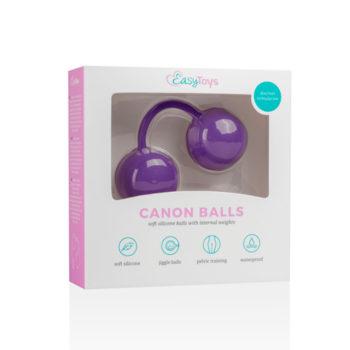 Canon Balls Vaginaballetjes Met Contragewicht - Paars