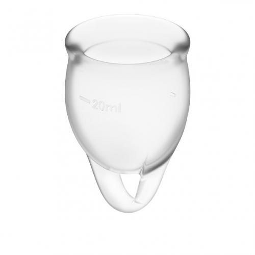 Satisfyer Feel Confident Menstruatie Cup Set - Transparant