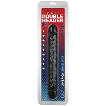 Jr. Veined Double Header Bender Dildo - 30 cm
