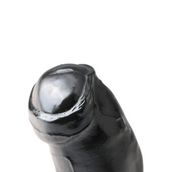 All Black Dildo - 17 cm
