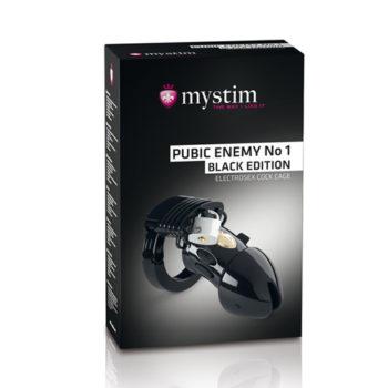 Mystim - Pubic Enemy No1 Cock Cage - Black Edition