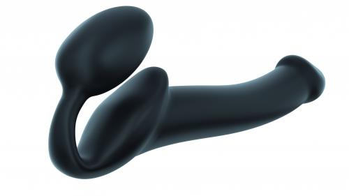 Strap On Me - Strapless Voorbind Dildo - Maat M - Zwart
