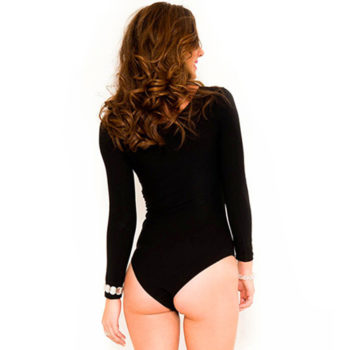 Basic Body Met Lange Mouwen - Zwart