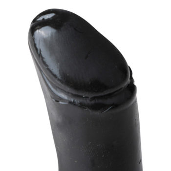 All Black Realistische Dildo Met Balzak - 7 cm