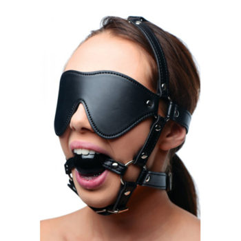 Kunstleren Masker Met Ball Gag