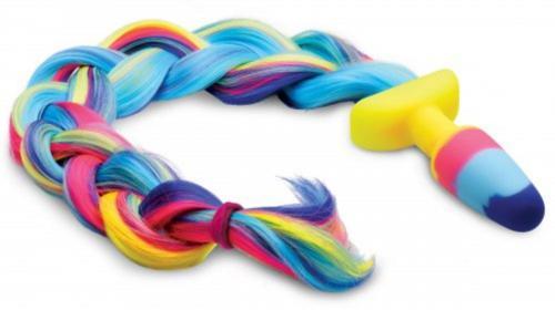 Rainbow Unicorn Anaal Plug met Staart