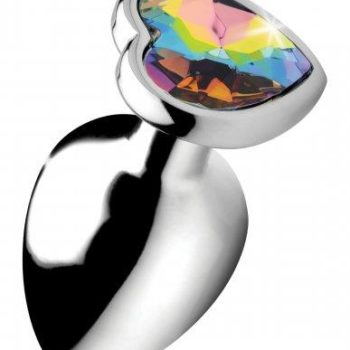 Rainbow Heart Buttplug - Groot