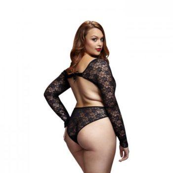 Baci - Kanten Bodysuit Met Open Achterkant - Curvy