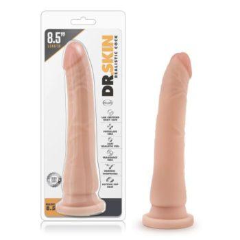 Dr. Skin - Realistische Dildo Met Zuignap 21 cm - Beige