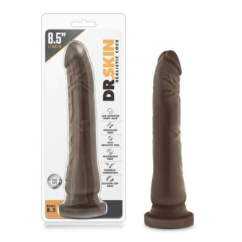 Dr. Skin - Realistische Dildo Met Zuignap 21 cm - Chocolate