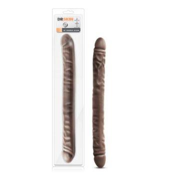 Dr. Skin - Realistische Dubbele Dildo 45 cm - Chocolate