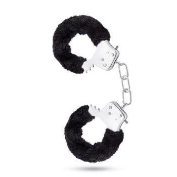 Temptasia - Pluche Verstelbare Handboeien - Zwart