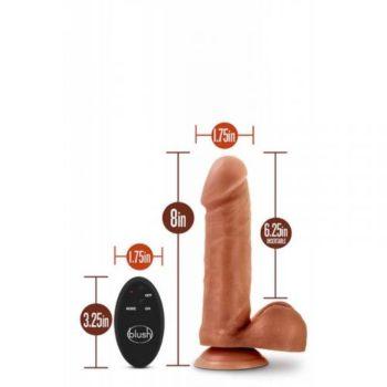 Dr. Skin- Dildo Met Afstandsbediening - Invoerdiepte 16 cm - Beige