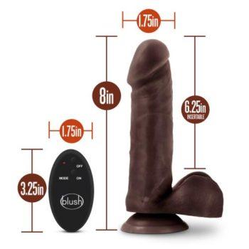 Dr. Skin- Dildo Met Afstandsbediening - Invoerdiepte 16 cm - Chocolate