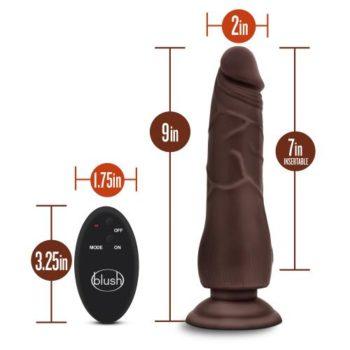 Dr. Skin - Dildo Met Afstandsbediening - Invoerdiepte 18 cm - Chocolate