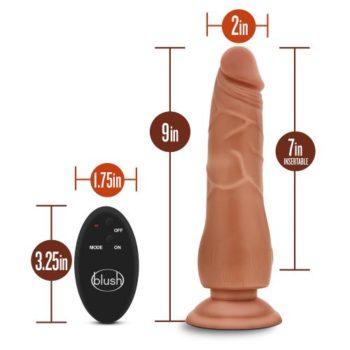 Dr. Skin - Dildo Met Afstandsbediening - Invoerdiepte 18 cm - Mocha